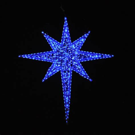 night stars christmas lights holiday lighting giant led star blue 6 25 39