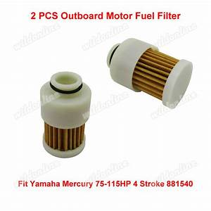 2x Outboard Motor Fuel Filter Fit Yamaha Mercury 75
