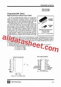 iw4541bn datasheetpdf integral corp With 4541 datasheet
