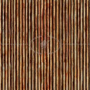 Dirty rusted corrugated metal texture seamless 10003