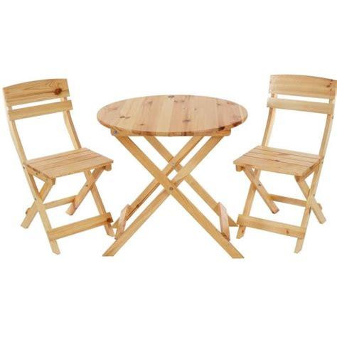 table ronde et chaises ensemble de jardin avec table ronde et 2 chaises pliantes