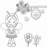 Coloring Beehive Bumblebee Bee Bees sketch template
