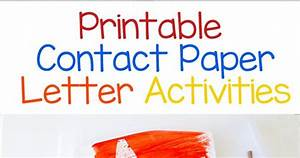 printable contact paper letter activity homeschool With contact paper letters