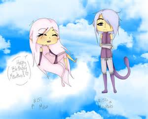 Funny Mew and Mewtwo