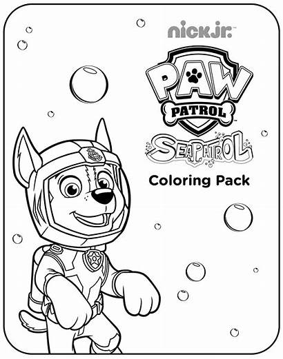 Patrol Sea Coloring Pages Paw Patroller Printable