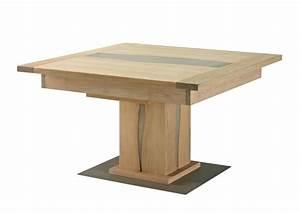 Table En Bois Carré : table avec pied central ~ Teatrodelosmanantiales.com Idées de Décoration