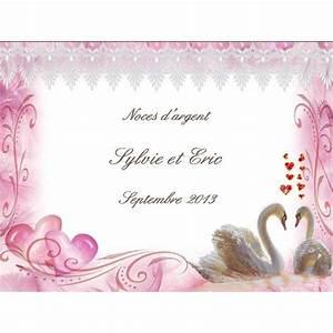Etiquette Champagne Mariage : etiquette bouteille champagne pour mariage avec cygnes ~ Teatrodelosmanantiales.com Idées de Décoration