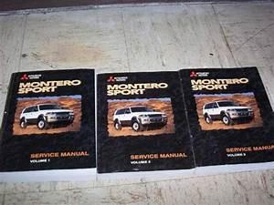 1999 Mitsubishi Montero Sport Shop Service Repair Manual