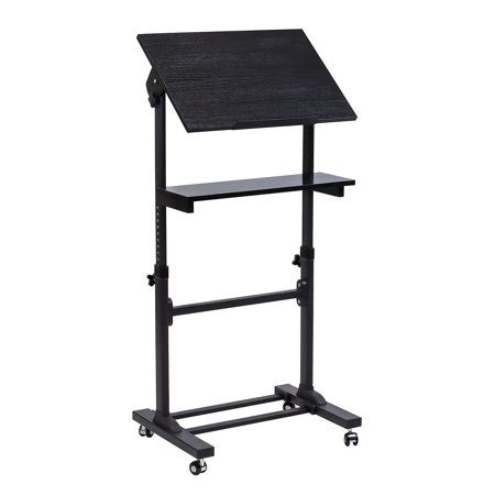 mount it mobile stand up desk presentation lectern height adjustable multi purpose standing