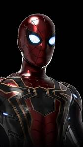 iphone, full, hd, iron, spider, endgame, wallpapers
