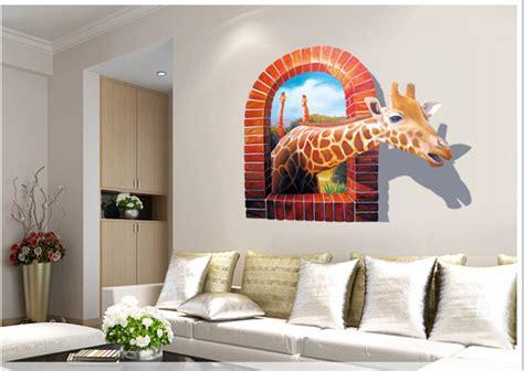 Huge Large Window 3d Giraffe Wall Stickers Decal Art Mural