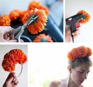 Diy Floral Headband Flower Crown · How To Make A Flower ...