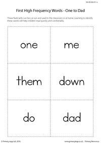 high frequency words   dad