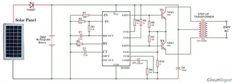 how to make solar inverter circuit