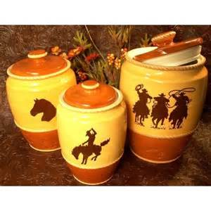 canister sets for kitchen western silhouette canister set of 3 kitchen