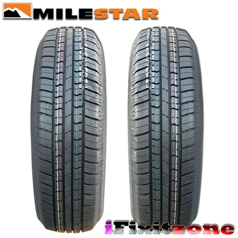 4 milestar ms775 p205 75r14 95s quot white wall quot all season tires new ebay