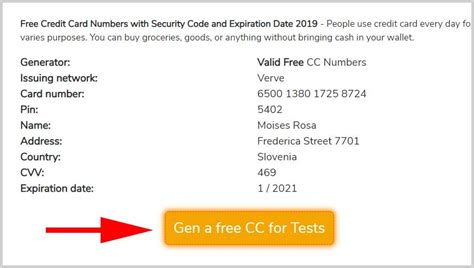 When we say a fake credit card number we are basically implying that these credit card number are created with the same numbering formulation as of those a real credit card numbers which can be easily done by simply assigning particular credit card number prefixes. Free Credit Card Numbers with Security Code and Expiration Date - Fake Credit Card Numbers that Work