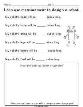|First Grade| Non-Standard Measurement Packet: Measuring