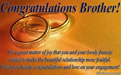 engagement wishes  brother congratulation messages wishesmsg
