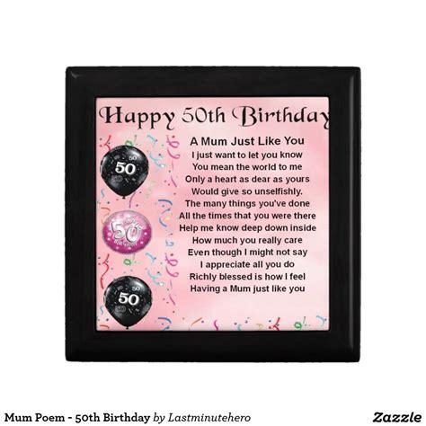 mum poem  birthday gift box zazzlecouk