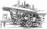 Stagecoach Prairie Schooner Clipart Stage Coach Etc West Pages Template Coloring Sketch Usf Edu Tiff Resolution sketch template