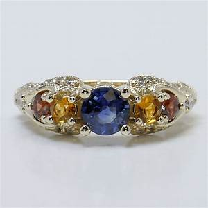 custom engagement rings with birthstones With birthstone wedding ring
