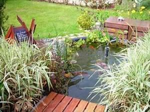 Bassin De Jardin Pour Poisson : mon bassin de jardin pr form poissons rouges ~ Premium-room.com Idées de Décoration