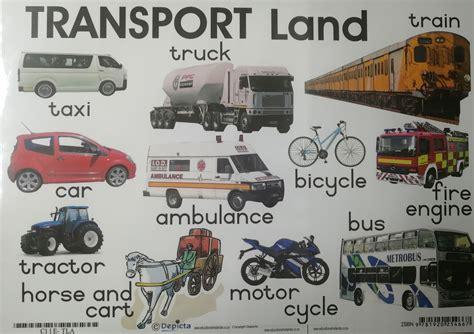 land transport wall chart laminated promonis
