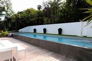 piscines semi enterrees piscines de piscines carre bleu With piscine miroir a debordement 10 piscine semi enterree piscines carre bleu