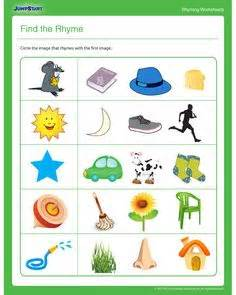 the preschoolers are learning rhymes and patterns this 336 | 1ec54148696e58b587425041f7e53f55 worksheets for kindergarten worksheets for kids