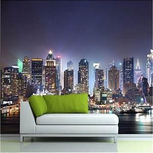 Manhattan 3d papel de paede, New York City large mural ...