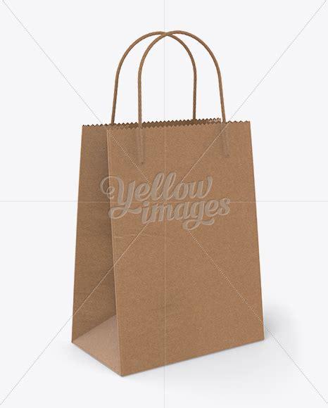 69 bag mockups in kraft, matte and glossy materials. Download Kraft Bag W/ Twisted Paper Handles Mockup / Half ...