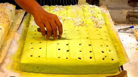 huge sponge cake dessert bangkok street food thailand