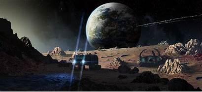 Matte Painting Film Backgrounds Classic Moon Technique