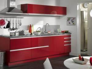 decoration cuisine rouge et blanc deco sphair With idee deco cuisine avec cuisine rouge et blanc