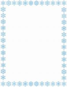 Free Snowflake Border Clipart - The Cliparts