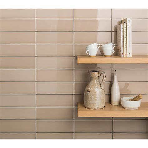 Wickes Soho Cream Ceramic Tile 300 X 100mm  Wickescouk