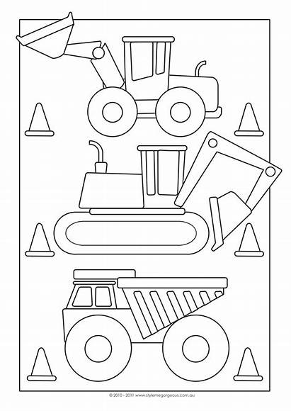 Construction Party Games Coloring Pages Birthday Looks