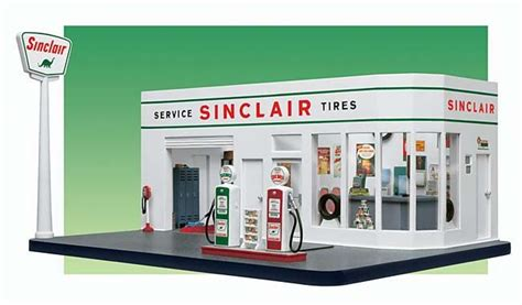 Danbury Mint 1:24 50's Sinclair Gas Station diecast car ...