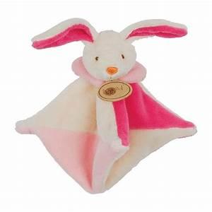 Doudou Lapin Rose : peluche mini doudou plat marionnette lapin rose et blanc baby nat 39 lacolline auxdoudous ~ Teatrodelosmanantiales.com Idées de Décoration