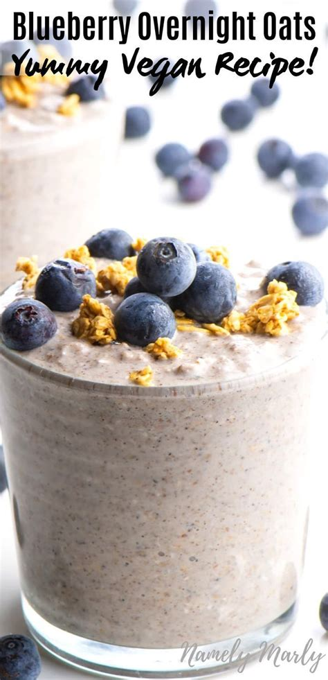 Overnight oatmeal is very popular, some people add greek yogurt to theirs for more protein, but personally i'm not a fan of the tangy taste. This easy vegan blueberry overnight oats recipe makes a simple, healthy breakfast. Mix … (With ...
