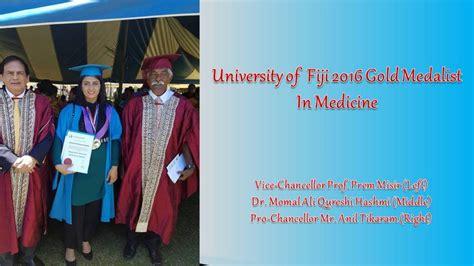 university fiji gold medalist medicine university fiji