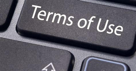 terms of use creating social media community or terms of use guidelines