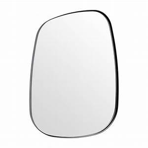 Miroir Metal Noir : leopold miroir oval en m tal noir habitat ~ Teatrodelosmanantiales.com Idées de Décoration