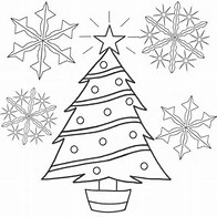 HD Wallpapers Cute Christmas Tree Coloring Pages