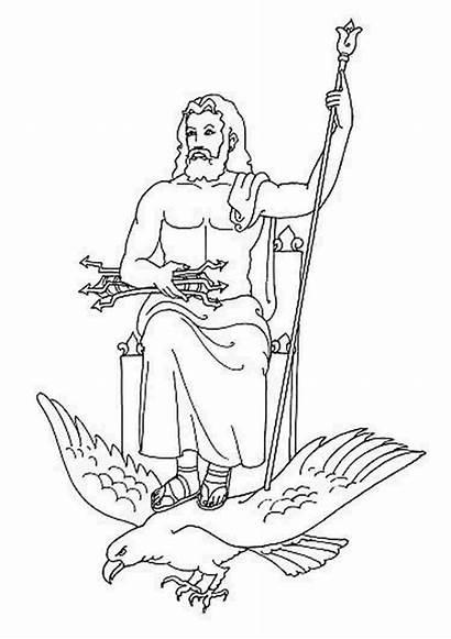 Greek Coloring Zeus Gods Stackbookmarks Greece Goddesses