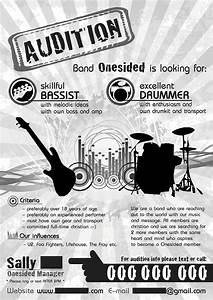 Audition Poster Design Audition Poster Design Band Quot Onesided Quot On Behance