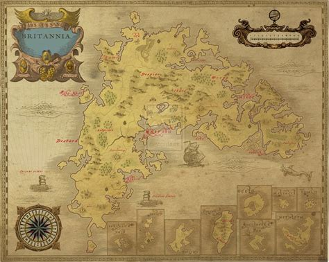 Uo Forever Templates by Antique Look Ancient Ultima Britannia Map