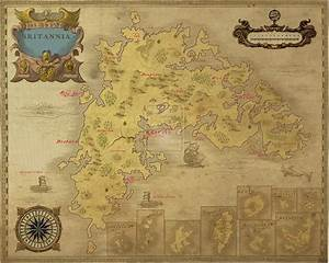 nice antique look ancient ultima online britannia map With uo forever templates