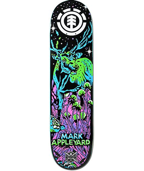 element appleyard neon night 7 875 quot skateboard deck at